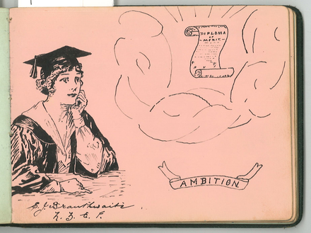 """""""Ambition"""" by S.J. Branthwaite. Swarbrick, Margaret. Miscellaneous papers, 1914 - 1947. Auckland War Memorial Museum Library. MS-1468. Image has no known copyright restrictions."""