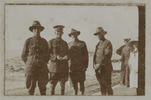 Unknown, photographer (ca.1917). At Camp Bay, Cape Town. Edie Dane, Vincent Holbeche , Jack Mckenzie and Norman Donald. Snapshot of Edward Dane (30768), Vincent Holbeche (28588), Jack McKenzie and Norman George Donald (30764). Auckland War Memorial Museum - Tamaki Paenga Hira. PH-ALB-461-p2-1. Image has no known copyright restrictions.