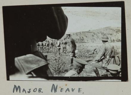 Gillett, Lawrence Henry, photographer (1914-1918). Major Neave. Gillett Album. Auckland War Memorial Museum - Tāmaki Paenga Hira PH-ALB-118p4-5. Image has no known copyright restrictions.