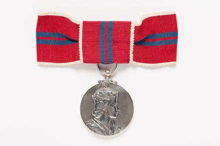Coronation Medal, Queen Elizabeth II, 1953, 2001.25.315.1, photographer Danielle Lucas