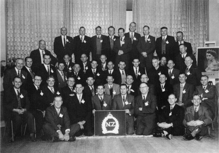 Group photograph of a reunion for the Christian returned servicemen c.1960s. Image kindly provided by Paul Baker. This image may be subject to copyright.