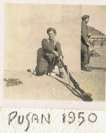 1950 Pusan Korea - Jack Frewin. Image kindly provided by Frewin family. Image may be subject to copyright restrictions.