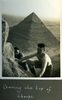 """""""Nearing the top of Cheops"""", Photo Album in Egypt of 638 Charles Honori Parks. Image kindly provided by Parks family. Image has no known copyright restrictions."""