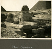 """View of the Sphinx from the front, """"The Sphinx"""", Photo Album in Egypt of 638 Charles Honori Parks. Image kindly provided by Parks family. Image has no known copyright restrictions."""