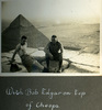 """""""With Bob Edgar on top of Cheops"""", Photo Album in Egypt of 638 Charles Honori Parks. Image kindly provided by Parks family. Image has no known copyright restrictions."""
