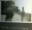 """Man balancing items on head, """"How Mrs carries her shopping"""", Photo Album in Egypt of 638 Charles Honori Parks. Image kindly provided by Parks family. Image has no known copyright restrictions."""