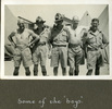 """Five men posing for the camera outdoors, """"Some of the 'boys'., Photo Album in Egypt of 638 Charles Honori Parks . Image kindly provided by Parks family. Image has no known copyright restrictions."""