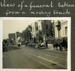 """""""View of a funeral taken from a moving truck"""", Photo Album in Egypt of 638 Charles Honori Parks. Image kindly provided by Parks family. Image has no known copyright restrictions."""