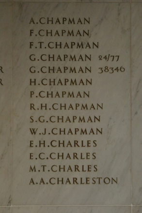 Auckland War Memorial Museum, World War 1 Hall of Memories Panel Chapman, A. - Charleston, A.A. (CC BY John Halpin 2010)