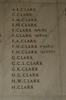 Auckland War Memorial Museum, World War 1 Hall of Memories Panel Clark, A.E. - Clark, H. (CC BY John Halpin 2010)