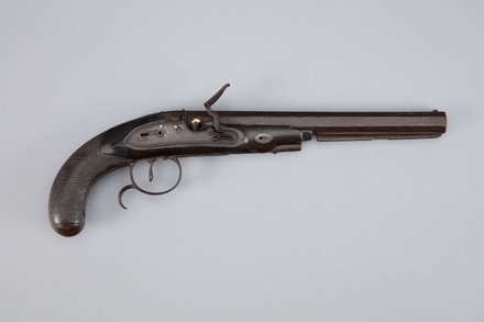 pistol, flintlock, 1965.78.564, col.0148, W1896, ocm1857, Photographed by Richard NG, digital, 10 Jan 2017, © Auckland Museum CC BY
