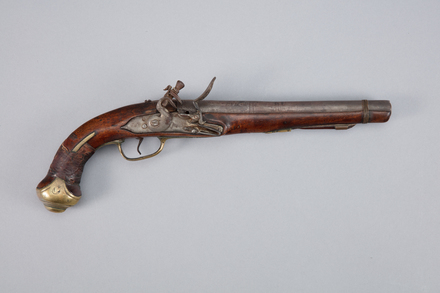pistol, flintlock, W0362, 393788, Photographed by Richard NG, digital, 11 Jan 2017, © Auckland Museum CC BY