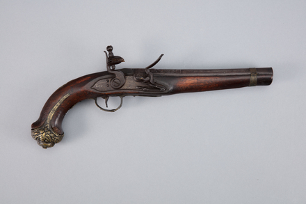 pistol, flintlock, 1924.24, W0640, 393794, [1924.122], Photographed by Richard NG, digital, 11 Jan 2017, © Auckland Museum CC BY