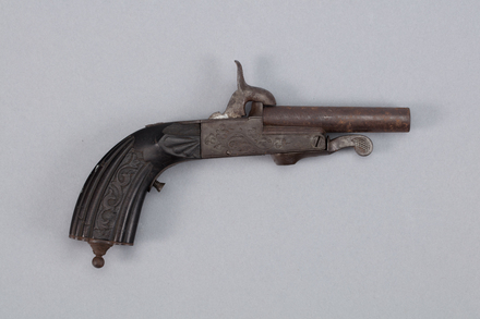 pistol, pinfire, W1902, Photographed by Richard NG, digital, 11 Jan 2017, © Auckland Museum CC BY