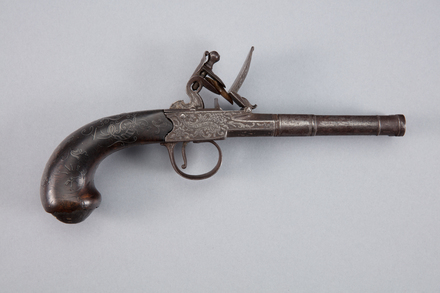 pistol, flintlock, 1950.166, W1177.3, Photographed by Richard NG, digital, 20 Jan 2017, © Auckland Museum CC BY