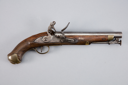pistol, flintlock, W0644, 393800, Photographed by Andrew Hales, digital, 24 Jan 2017, © Auckland Museum CC BY