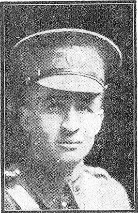 Portrait of Lieutenant Arthur John Ware Birdling. 'Sun' newspaper, 14 October 1916.
