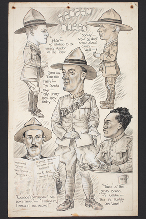 Caricatures by Percy Gower Reid includes caricature of Te Ama Turei. Auckland War Memorial Museum - Tāmaki Paenga Hira PD-1969-4-9-001. Image has no known copyright restrictions.