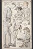 Caricatures by Percy Gower Reid includes caricature of William Saville Smith and William Richard Irvine and Lt. Colonel I.T. Standish. Auckland War Memorial Museum - Tāmaki Paenga Hira PD-1969-4-10-001. Image has no known copyright restrictions.