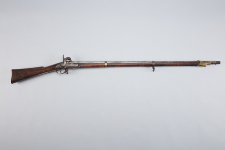 musket, percussion (conversion), W1417, 5451, 38005.2, Photographed by Richard NG, digital, 22 Feb 2017, © Auckland Museum CC BY