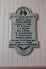 Roll of Honour WW1 Panel, Onehunga Parish Church. Image provided by John Halpin 2014, CC BY John Halpin 2014