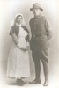 Ivy & Arthur Smale 1914. Image taken soon before they embarked from Gisborne to join the WW1 conflict. Image kindly uploaded by Barron family (April 2016). No known copyright restrictions.