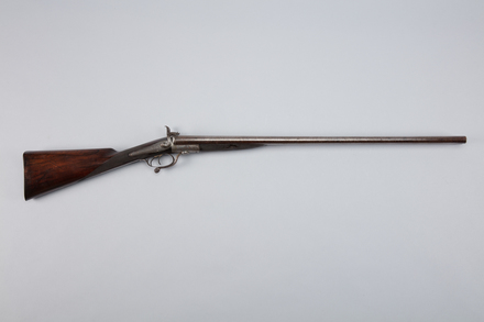 shotgun, pinfire, 1966.139, A7025, col.1080, col.1079, Photographed by Richard NG, digital, 06 Mar 2017, © Auckland Museum CC BY