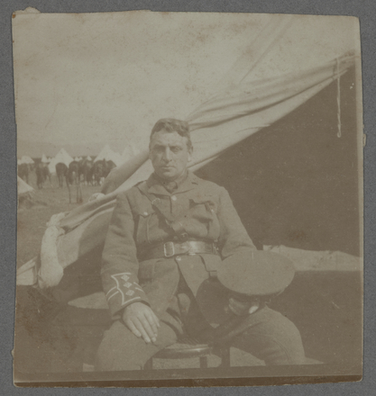 Late Captain Bell taken at [?] Camp Egypt. Thomson, George William, 1889-1976, photographer, Auckland War Memorial Museum - Tāmaki Paenga Hira PH-2003-1-7. No known copyright.
