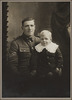 Portrait of Private Hugh Anderson 6/2034 with child - Military Medal. R24184772, Archives New Zealand. Image has no known copyright restrictions.