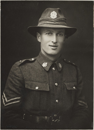 Portrait of Corporal George Isaac Cuthbertson 13886 - Military Medal. R24184774, Archives New Zealand.
