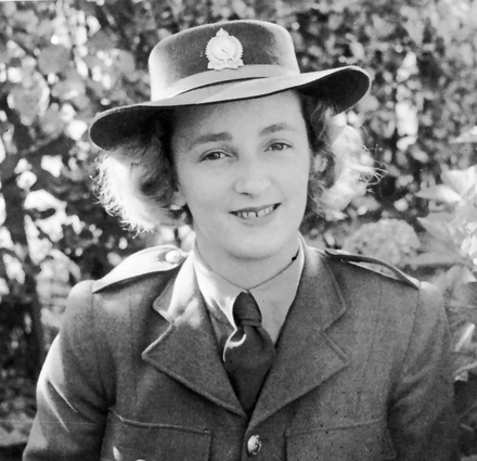 Photograph of Private Theresa von Keisenberg in her family garden. 824102. Image kindly provided by Catherine Watson (May 2017). Image may be subject to copyright.