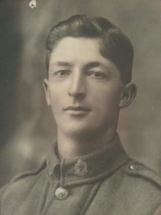 Protrait of Lance Corporal William Albert Ralph 14151, taken c.1915. Image  kindly provided by Chris Alexander Ralph (May 2017). Image has no known copryright restrictions