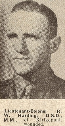 Portrait of Lieutenant Colonel Ralph Walden Harding. Auckland Weekly News, 19 May 1943. Sir George Grey Special Collections, Auckland Libraries, AWNS-19430519-18-9.