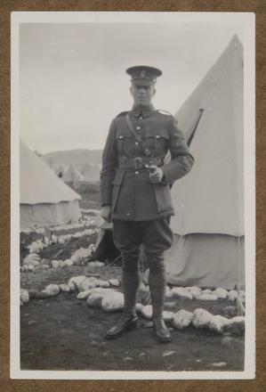 "Unknown, photographer, ""Sgt. Major. W. Tweedy"" (1915) in Colin M. Gordon album (1915-1918). Auckland War Memorial Museum - Tāmaki Paenga Hira  PH-ALB-376-p2-5."