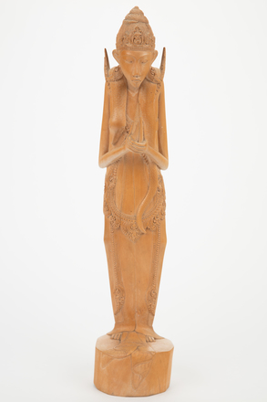 Figure, wood, 1981.99, M2071, B104, Photographed by Richard Ng, digital, 07 Sep 2017, © Auckland Museum CC BY