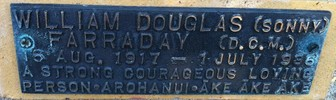 Headstone of Sergeant William Douglas Friday 29312, at Schnapper Rock, North Shore. Image kindly provided by Jan Green (September 2017). Image may be subject to copyright restrictions.