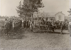 Photograph of the funeral servce of Rifleman Duncan Reid Fraser 24/145 held at Daisy Hill farm, Pokeno, late July 1915. Image kindly provided by Johanna Lees (nee Fraser) (October 2017). Image has no known copyright restrictions.