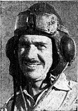 Portrait of Flight Lieutenant H. N. Blundell, D.F.C. Evening Post, 19 September 1942. Papers Past. Image has no known copyright restrictions.