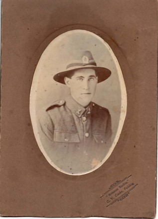 Portrait of Private Francis Edward Letford 38046, 1916/1917. Image kindly provided by family. (October 2017). Image has no known copyright restrictions.