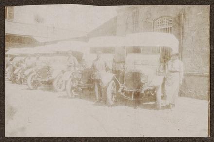 "Unknown, photographer (1915-1916). ""Ambulance. Mrs Goodchild"". [Agnes (Peggy) Williams photograph album]. Auckland War Memorial Museum - Tāmaki Paenga Hira PH-2017-2-3-p37-5. No known copyright restrictions."