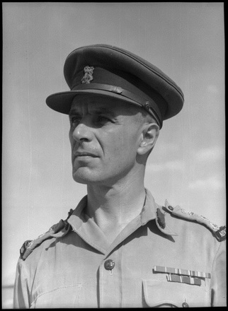 Portrait of Brigadier H S Kenrick, CBE, DSO, who is one of the senior officers in the 2nd NZEF. Photograph taken at Maadi, Egypt, in August 1943 by George Robert Bull. Alexander Turnbull Library, DA-04357-F. Image may be subject to copyright restrictions.