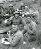 Group photograph of Corporal Randel Heron (front) and Lance Corporal John O'Brien (behind). Lunch time at cave on territorial training, 1939. Image kinge kindly provided by John's daughter Susan Sexton (October 2017). Image may be subject to copyrigt restrictions.