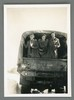 """Picture captioned """"Hitch hike. Jean, Nance, Enid"""". Image kindly donated by Alison Broom (Nov 2017). Image may be subject to copyright restrictions"""