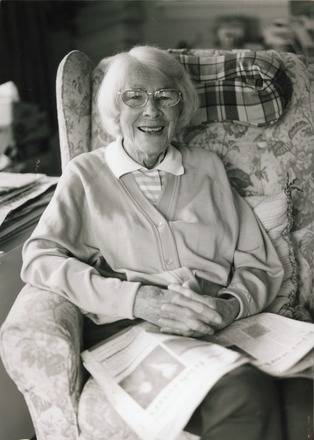 Portrait of Charge Sister Enid Greenslade 17884, taken by her nephew Matt Greenslade c.1998. Taken just before she left her home in Jed Lane, St. Albans, Christchurch to move into a retirement village. Image kindly provided by Alison Broom (November 2017). Image is subject to copyright restrictions.