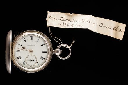 watch, silver, 1940.66, H144, 25403, Photographed by Jennifer Carol, digital, 16 Nov 2017, © Auckland Museum CC BY