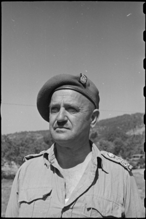 Bull, George Robert, 1910-1996. Brigadier Stanley Herbert Crump, DSO, OBE - Photograph taken by George Bull. Ref: DA-05921-F. Alexander Turnbull Library, Wellington, New Zealand. Image may be subject to copyright restrictions.