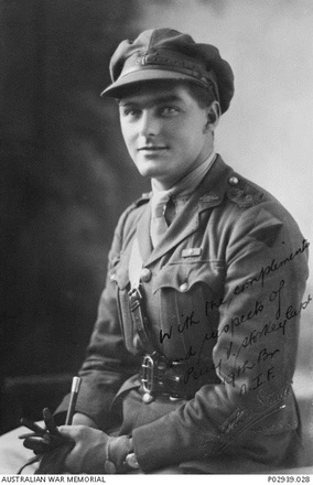 Portrait of Captain Percy Valentine Storkey VC taken at Deighton Studio, Napier, c.1918. Australian War Memorial, P02939.028. Image has no known copyright restrictions.