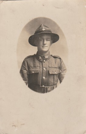 Portrait of Cpl John Kevin Crotty. Image from Kathleen Thoms collection (December 2017). Image has no known copyright restrictions.