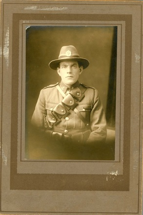 Photograph of Trooper George Fraser 74173 in uniform. Image kindly provided by Johanna Lees (January 2018). Image has no known copyright restrictions.