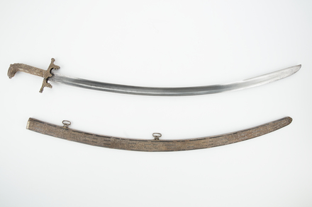 sword and scabbard, 1932.233, W2614, 17658.4, Photographed by Denise Baynham, digital, 02 Mar 2018, © Auckland Museum CC BY